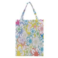 Star Flower Rainbow Sunflower Sakura Classic Tote Bag by Mariart
