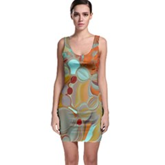 Liquid Bubbles Sleeveless Bodycon Dress by theunrulyartist