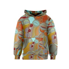 Liquid Bubbles Kids  Pullover Hoodie by theunrulyartist