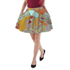 Liquid Bubbles A Line Pocket Skirt by theunrulyartist