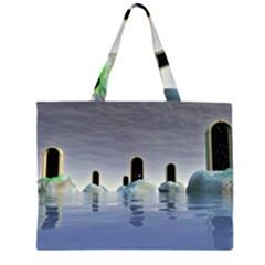 Abstract Gates Doors Stars Zipper Large Tote Bag by Nexatart