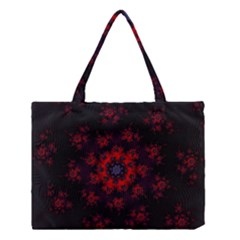 Fractal Abstract Blossom Bloom Red Medium Tote Bag by Nexatart