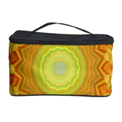 Sunshine Sunny Sun Abstract Yellow Cosmetic Storage Case by Nexatart