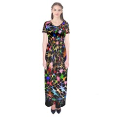 Network Integration Intertwined Short Sleeve Maxi Dress