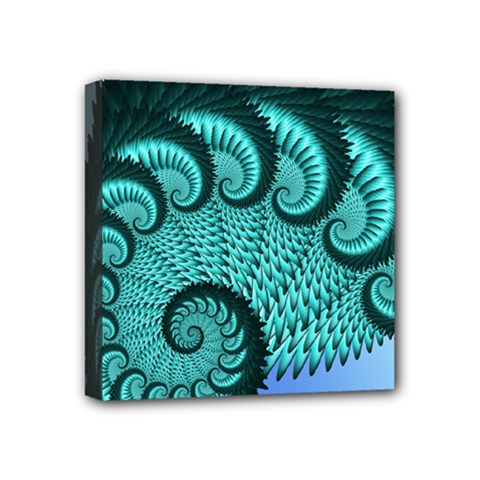 Fractals Texture Abstract Mini Canvas 4  X 4  by Nexatart