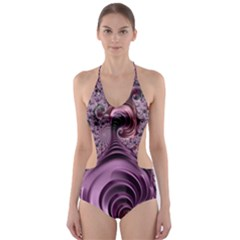 Abstract Art Fractal Art Fractal Cut Out One Piece Swimsuit