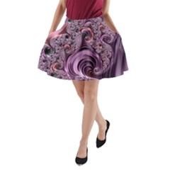 Abstract Art Fractal Art Fractal A Line Pocket Skirt by Nexatart