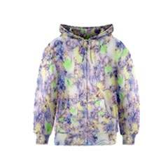 Softly Floral B Kids  Zipper Hoodie by MoreColorsinLife