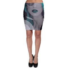 Turquoise Angel Bodycon Skirt by mugebasakart