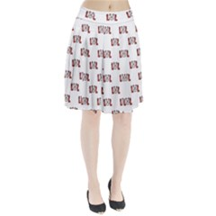 Funny Emoji Laughing Out Loud Pattern  Pleated Skirt by dflcprintsclothing