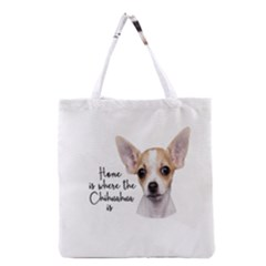Chihuahua Grocery Tote Bag by Valentinaart