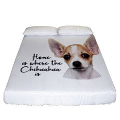 Chihuahua Fitted Sheet (california King Size) by Valentinaart