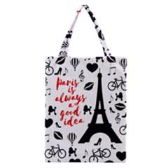Paris Classic Tote Bag by Valentinaart