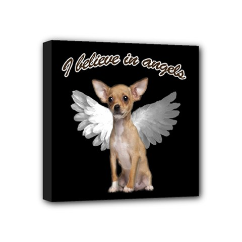 Angel Chihuahua Mini Canvas 4  X 4  by Valentinaart