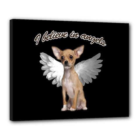 Angel Chihuahua Canvas 20  X 16  by Valentinaart