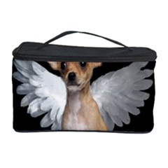 Angel Chihuahua Cosmetic Storage Case by Valentinaart