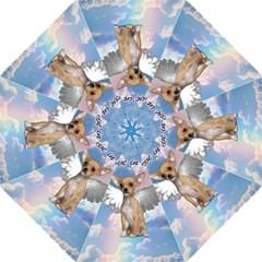 Angel Chihuahua Straight Umbrellas by Valentinaart