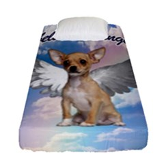 Angel Chihuahua Fitted Sheet (single Size) by Valentinaart