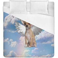 Angel Chihuahua Duvet Cover (king Size) by Valentinaart