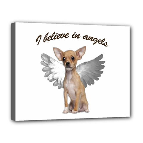 Angel Chihuahua Canvas 14  X 11  by Valentinaart