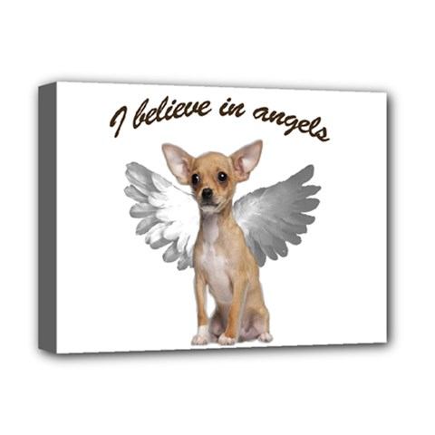 Angel Chihuahua Deluxe Canvas 16  X 12   by Valentinaart
