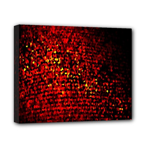Red Particles Background Canvas 10  X 8  by Nexatart