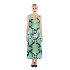 Branches With Diffuse Colour Background Sleeveless Maxi Dress by Nexatart