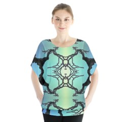 Branches With Diffuse Colour Background Blouse by Nexatart