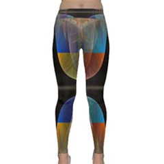 Black Cross With Color Map Fractal Image Of Black Cross With Color Map Classic Yoga Leggings by Nexatart