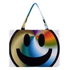 Simple Smiley In Color Medium Tote Bag by Nexatart