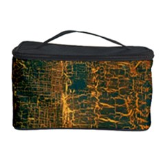Black And Yellow Color Cosmetic Storage Case by Nexatart