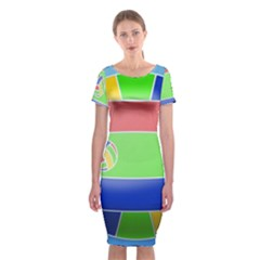 Balloon Volleyball Ball Sport Classic Short Sleeve Midi Dress by Nexatart