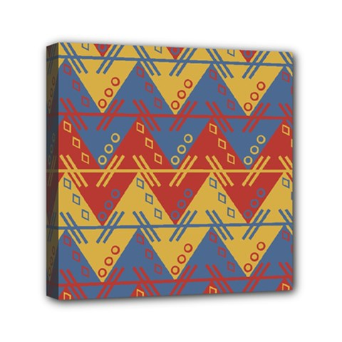 Aztec South American Pattern Zig Zag Mini Canvas 6  X 6  by Nexatart