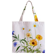 Flowers Flower Of The Field Zipper Grocery Tote Bag by Nexatart