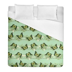 Green Butterflies Duvet Cover (full/ Double Size) by linceazul