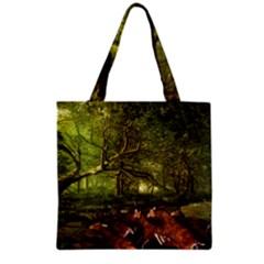 Red Deer Deer Roe Deer Antler Grocery Tote Bag by Nexatart
