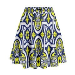 Tiles Panel Decorative Decoration High Waist Skirt by Nexatart