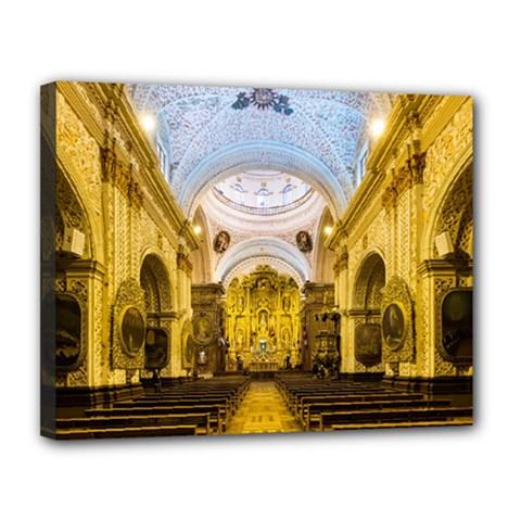 Church The Worship Quito Ecuador Canvas 14  X 11  by Nexatart