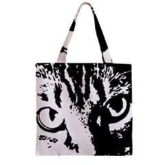 Cat Zipper Grocery Tote Bag by Valentinaart