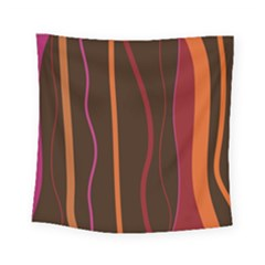 Colorful Striped Background Square Tapestry (small) by TastefulDesigns