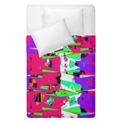 Colorful Glitch Pattern Design Duvet Cover Double Side (single Size) by dflcprints