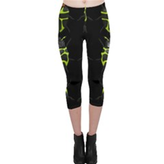 Beetles Insects Bugs Capri Leggings  by Gogogo