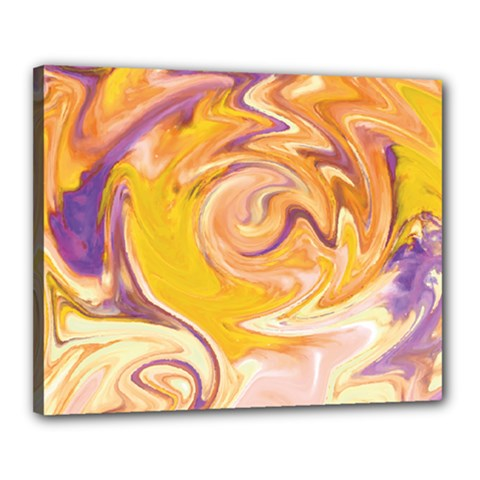 Yellow Marble Canvas 20  x 16  by tarastyle