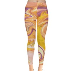 Yellow Marble Leggings  by tarastyle