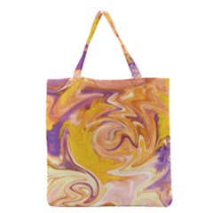 Yellow Marble Grocery Tote Bag
