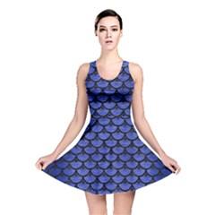 SCA3 BK-MRBL BL-BRSH (R) Reversible Skater Dress