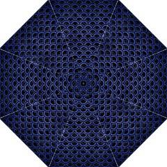 Scales2 Black Marble & Blue Brushed Metal Folding Umbrella by trendistuff
