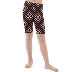 Toraja Pattern Pa re po  Sanguba ( Dancing Alone ) Kids  Mid Length Swim Shorts by Gogogo