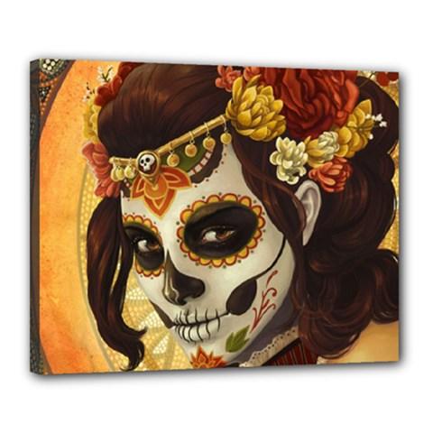 Fantasy Girl Art Canvas 20  x 16  by Gogogo