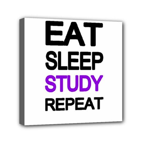 Eat Sleep Study Repeat Mini Canvas 6  X 6  by Valentinaart